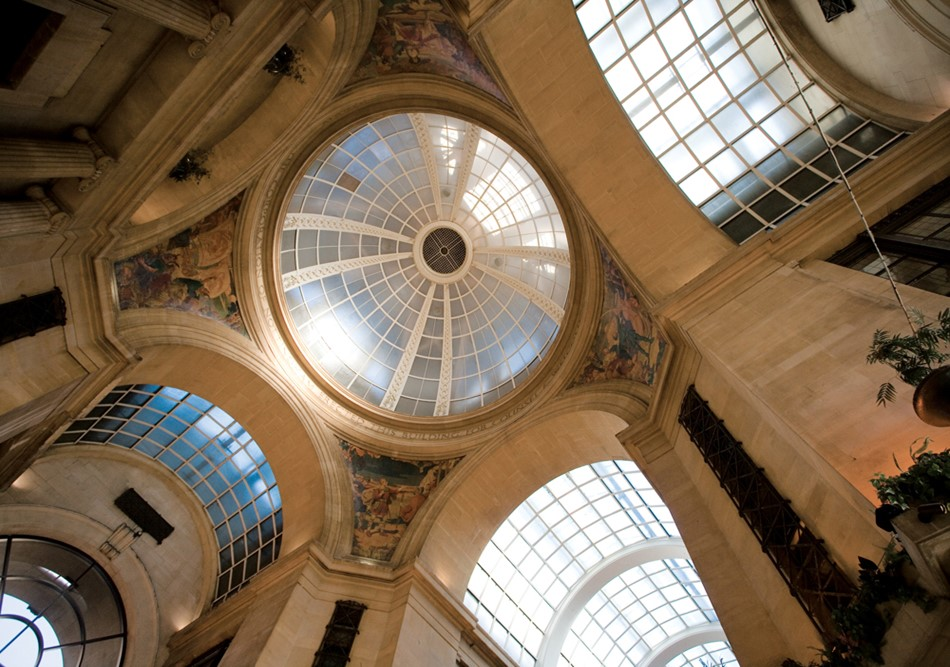 The Exchange's magnificent central dome