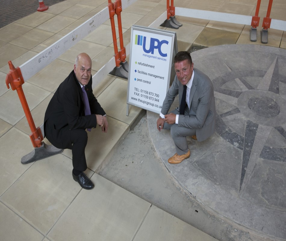(Left to right) Exchange Centre Manager, Neil Fincham and Jonathan Simpson of UPC